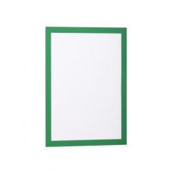 Ramka magnetyczna samoprzylepna Duraframe A4 - zielona / 2 szt.