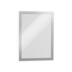 Ramka magnetyczna samoprzylepna Duraframe A4 - srebrna / 10 szt.