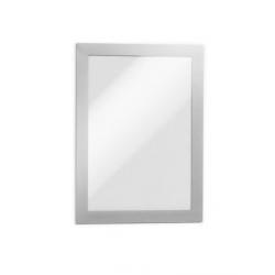 Ramka magnetyczna samoprzylepna Duraframe A5 - srebrna / 10 szt.