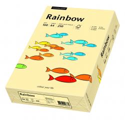 Papier kolorowy Rainbow A4 160g/250ark., nr 06 - kość słoniowa