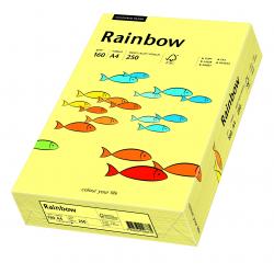 Papier kolorowy Rainbow A4 160g/250ark., nr 12 - żółty jasny