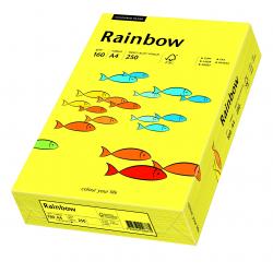 Papier kolorowy Rainbow A4 160g/250ark., nr 14 - żółty słoneczny