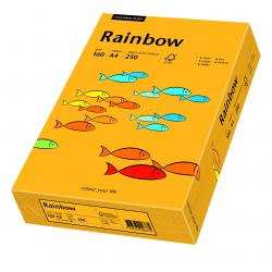 Papier kolorowy Rainbow A4 160g/250ark., nr 22 - pomarańczowy jasny