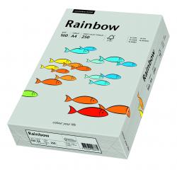 Papier kolorowy Rainbow A4 160g/250ark., nr 96 - szary