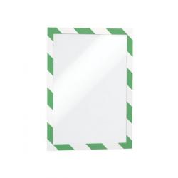 Ramka magnetyczna samoprzylepna Duraframe Security A4 - zielono-biała / 10 szt.