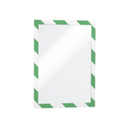 Ramka magnetyczna samoprzylepna Duraframe Security A4 - zielono-biała / 2 szt.