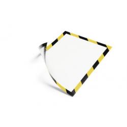 Ramka magnetyczna Duraframe Magnetic Security A4 - żółto-czarna / 5 szt.