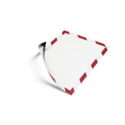 Ramka magnetyczna Duraframe Magnetic Security A4 - czerwono-biała / 5 szt.