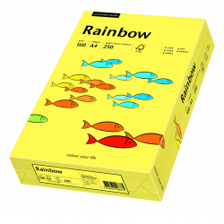 Papier kolorowy Rainbow A4 160g/250ark., nr 16 - żółty