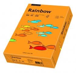 Papier kolorowy Rainbow A4 160g/250ark., nr 24 - pomarańczowy