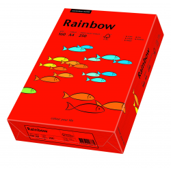 Papier kolorowy Rainbow A4 160g/250ark., nr 28 - czerwony ciemny