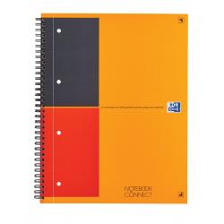 Kołonotatnik Oxford Notebook z tagami A4+ w linie - pomarańczowy