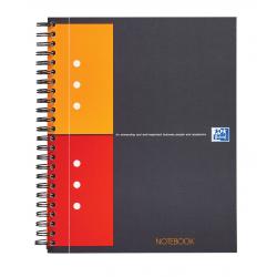 Kołonotatnik Oxford Notebook z tagami B5 w kratkę - szary