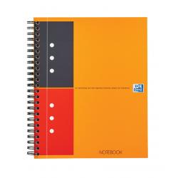 Kołonotatnik Oxford Notebook z tagami B5 w linie - pomarańczowy