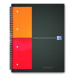 Kołonotatnik Oxford Notebook A4+ w kratkę - szary