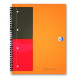 Kołonotatnik Oxford Activebook A4+ w linie - pomarańczowy