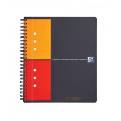 Kołonotatnik Oxford Activebook A5+ w kratkę - szary