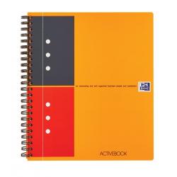 Kołonotatnik Oxford Activebook A5+ w linie - pomarańczowy