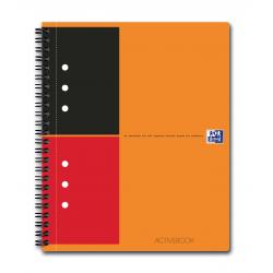 Kołonotatnik Oxford Activebook z tagami B5 w linie - pomarańczowy
