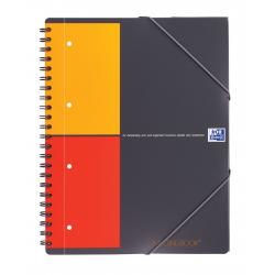 Kołonotatnik Oxford Meetingbook A4+ w kratkę - szary