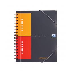 Kołonotatnik Oxford Meetingbook A5+ w kratkę - szary