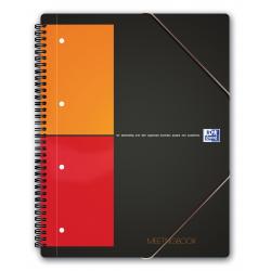 Kołonotatnik Oxford Meetingbook z tagami B5 w kratkę - szary