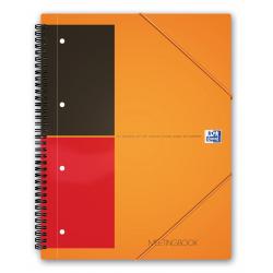 Kołonotatnik Oxford Meetingbook z tagami B5 w linie - pomarańczowy