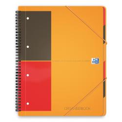 Kołonotatnik Oxford Organiserbook A4+ w linie - pomarańczowy