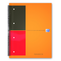 Kołonotatnik Oxford Filingbook A4+ w linie - pomarańczowy