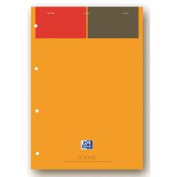 Blok notatnikowy Oxford International Notepad A4+ w linie - pomarańczowy