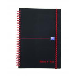 Kołonotatnik Oxford Black N' Red A5 - w linie