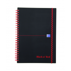 Kołonotatnik Oxford Black N' Red A4 - w linie