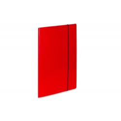 Teczka kartonowa z gumką Vaupe Soft 1 - czerwona