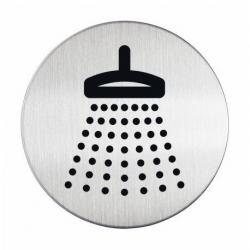 "Tabliczka / piktogram ""Prysznic"" okrągła - srebrna  / 1 szt."