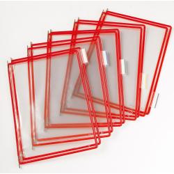 Panel prezentacyjny Tarifold A4 - kolor czerwony