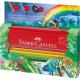 Kredki ołówkowe Faber Castell Grip Jungle - 16 kolorów + akcesoria