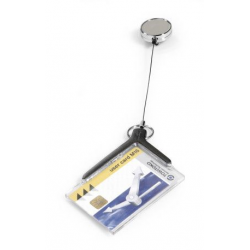 Etui do kart identyfikacyjnych Card Holder De Luxe Pro - szare / 10 szt.