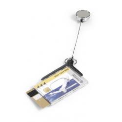 Etui do kart identyfikacyjnych Card Holder De Luxe Pro Duo - szare / 10 szt.