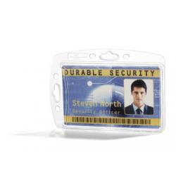 Etui na karty identyfikacyjne zamknięte - transparentne / 10 szt.