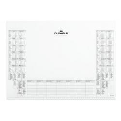 Wkład z kalendarzem do podkładu na biurko - biały / 1 szt.