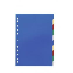 Przekładki A4 Durable 10 części - kolorowe / 1 szt.