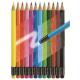 Kredki ołówkowe z gumką - 12 kolorów