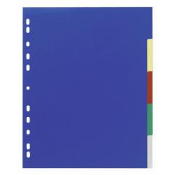 Przekładki A4 Durable 5 części poszerzone - kolorowe / 1 kpl.