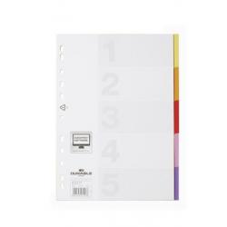 Przekładki A4 Varicolor 5 części - kolorowe / 1 kpl.