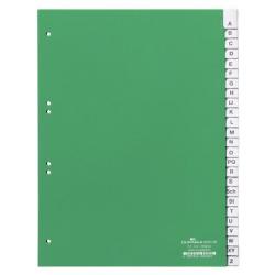 Przekładki A4 Durable alfabetyczne A-Z - zielone / 1 kpl.