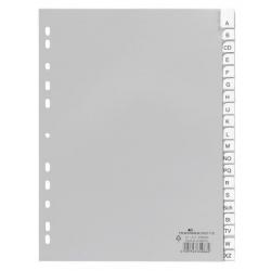 Przekładki A4 Durable alfabetyczne A-Z - jasnoszare / 1 kpl.