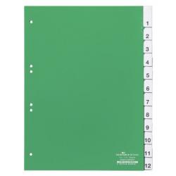 Przekładki A4 Durable numeryczne 1-12 - zielone / 1 kpl.