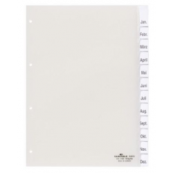 Przekładki A4 Durable numeryczne 1-12 - transparentne / 1 kpl.