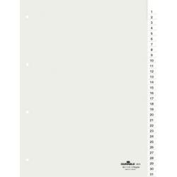Przekładki A4 Durable numeryczne 1-31 - transparentne / 1 kpl.