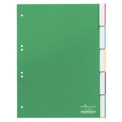 Przekładki A4 Durable 5 części - zielone / 1 kpl.